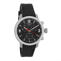 Tissot PRC 200 Mens Black Quartz Chronograph Watch T055.417.17...