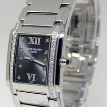 Patek Philippe Ladies Twenty-4 Stainless Steel & Diamond...