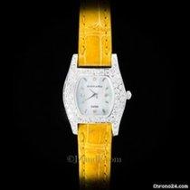 Austern Ladies' Watch 14K White Gold and VVS Diamond Case Yellow