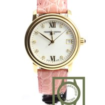 Frederique Constant Slim Line Yellow gold plated diamonds...