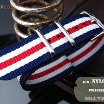 MiLTAT 22mm G10 NATO Watch Strap, Navy, White & Red, P