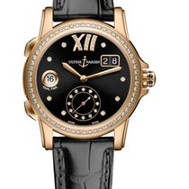 Ulysse Nardin Classic Dual Time 18K Rose Gold & Diamonds...