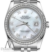 Rolex Lady's Rolex 36mm Datejust White Mop Mother Of Pearl...
