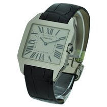 Cartier W2007051 Santos Dumont - Large Size - White Gold on...