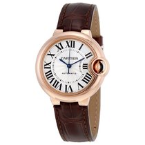 Cartier Balloon Bleu Silvered Opaline Flinque Dial Brown...