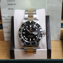 Rolex GMT Master Black Dial 18K Yellow Gold & Stainless Steel