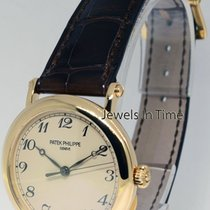 Patek Philippe Calatrava 18K Yellow Gold Mens Officers Watch...