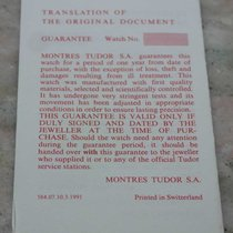 Tudor 584.07 1991  Blank Translation Paper for chrono /sub mod