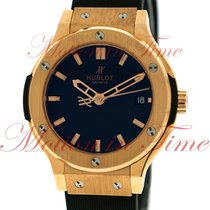 Hublot Classic Fusion 38mm, Black Dial - Rose Gold on Strap