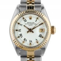 Rolex Oyster Perpetual Lady Date Stahl Gelbgold Automatik...