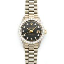 Rolex Datejust White Gold Diamond Watch Ref. 6913
