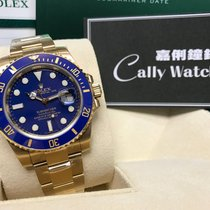 Rolex Cally - Discontinued 116618LB Submariner Gold Blue V Serial