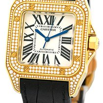 "Cartier ""Diamond Santos 100"" Strapwatch."