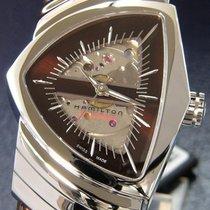 Hamilton VENTURA AUTO Steel-Brown Skeleton Dial & Leather...