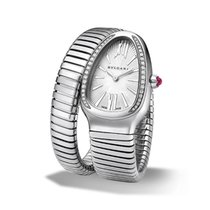 Bulgari Serpenti Tubogas Silver Diamond Large