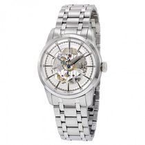 Hamilton Men's Railroad Silver Skeleton Dail Watch