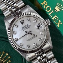 Rolex 36mm Datejust White Mop Mother Of Pearl Diamond Dial 18k...