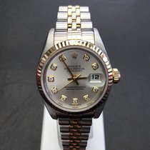 Rolex DateJust Ladies steel gold with diamond dial  2004
