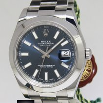Rolex Datejust II Stainless Steel Blue Dial Mens Watch...