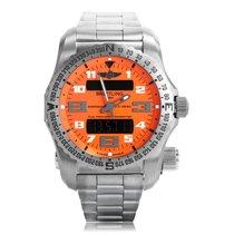 Breitling Professional Emergency II Orange Quartz Mens Watch...