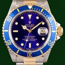 Ρολεξ (Rolex) Submariner Date 16613 Gold Steel Blue Dial...