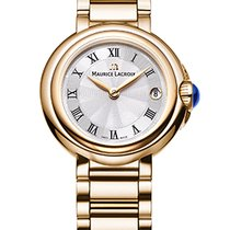 Maurice Lacroix Fiaba. Silver Dial, Roman, Gold Plated, Date