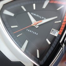Hamilton Men's Ventura Elvis80 Quartz Steel on Black...