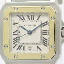 カルティエ (Cartier) Polished Cartier Santos Galbee 18k Gold Steel...