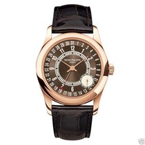 Patek Philippe Mens Calatrava 6000R-001 18K Rose Gold 37mm NEW
