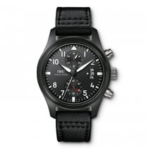 IWC Pilots Watch Chronograph Last Flight Black Dial Automatic...