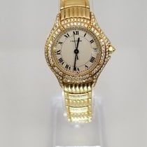 Cartier Cougar Lady's Yellow Gold w/Factory Diamond Bezel...