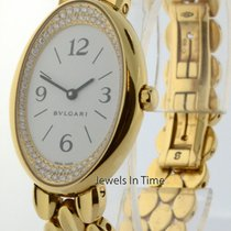Bulgari Oval 18k Yellow Gold & Diamond Ladies Quartz Watch...