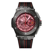 Hublot Big Bang 45mm Ferrari Red Magic Carbon Mens Watch Ref...