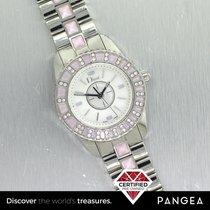 Dior Christal CD112111 Pink Stone & Diamonds Ladies MOP 28mm...