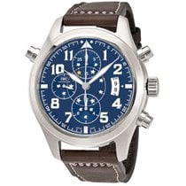 IWC Men's IW371807 Pilot Midnight Double Chronograph Watch