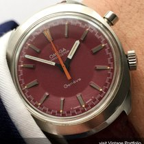 Omega Geneve Chronostop Chronograph with red dial burgundy...