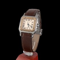 Cartier Santos Steel and Gold Quartz Medium Size