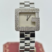 Gucci 3600m Silver / Grey  Diamond   14k & Stainless Steel...