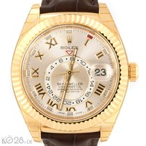 Rolex Sky-Dweller 326138 Gold Silver Roman Dial Unworn B+P EU