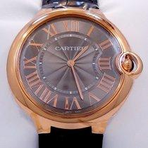 Cartier Ballon Bleu W6920089 40mm 18k Rose Gold Gray Guilloché...