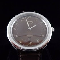 Hermès Magnificent Arceau in Stainless steel/Acier with brown...