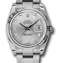 Rolex Unworn 116234 Datejust 36mm in Steel with Fluted Bezel -...