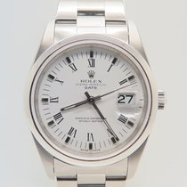 Rolex Oyster Perpetual Date White Roman Dial (Box&Papers)