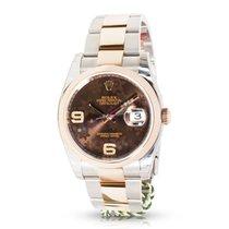 Rolex Datejust 116201 Men's Watch in 18K Rose Gold &...