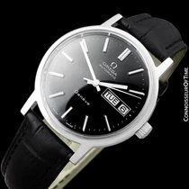 Omega 1974 Geneve Classic Vintage Mens Watch, Stainless Steel...