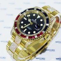 Rolex Oyster Perpetual GMT Master II Sapphire, Rubie Diamonds...