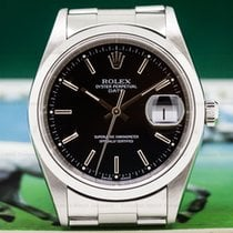 Rolex 15200 Date Black Dial SS FULL SET (26675)
