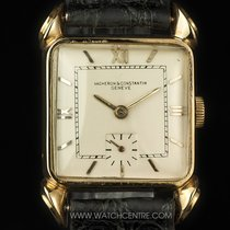 Vacheron Constantin 18k Yellow Gold Silver Dial Fancy Lugs...