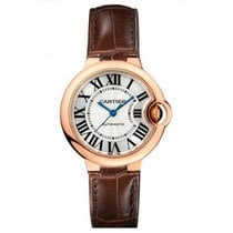 Cartier Ballon Bleu 33mm Rose Gold Watch on Leather Strap