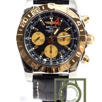 Breitling Chronomat 44 GMT Chronograph Pink Gold Crocodile...